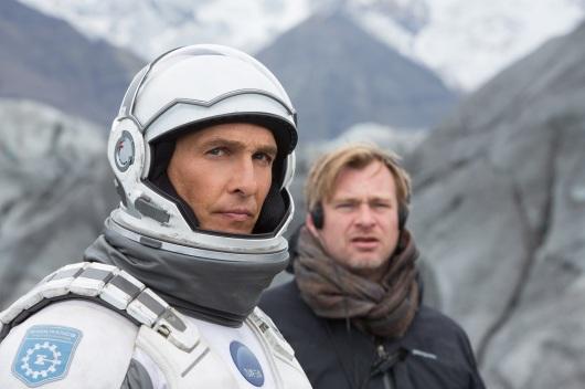 Matthew McConaughey e Christopher Nolan sul set