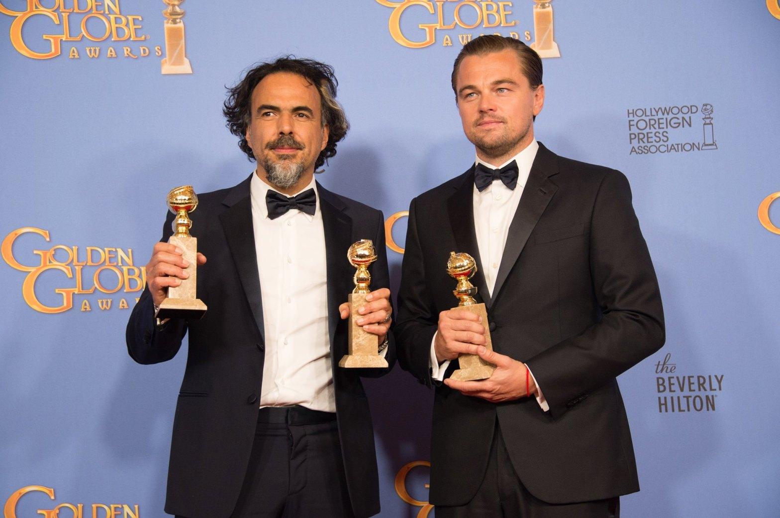 Golden Globes 2016 Inarritu Leonardo DiCaprio