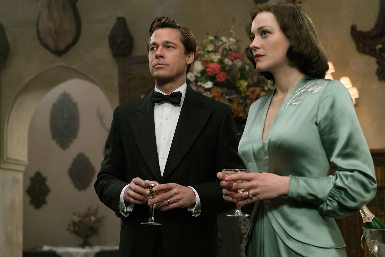 Allied Film Brad Pitt Marion Cotillard