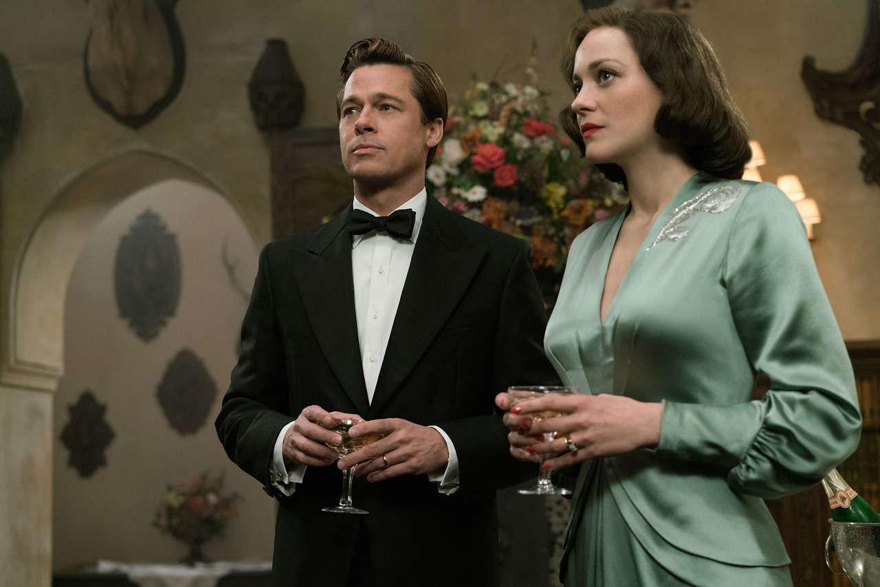 Allied Film Brad Pitt Marion Cotillard